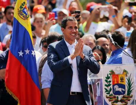 委内瑞拉反对派领袖瓜伊多。