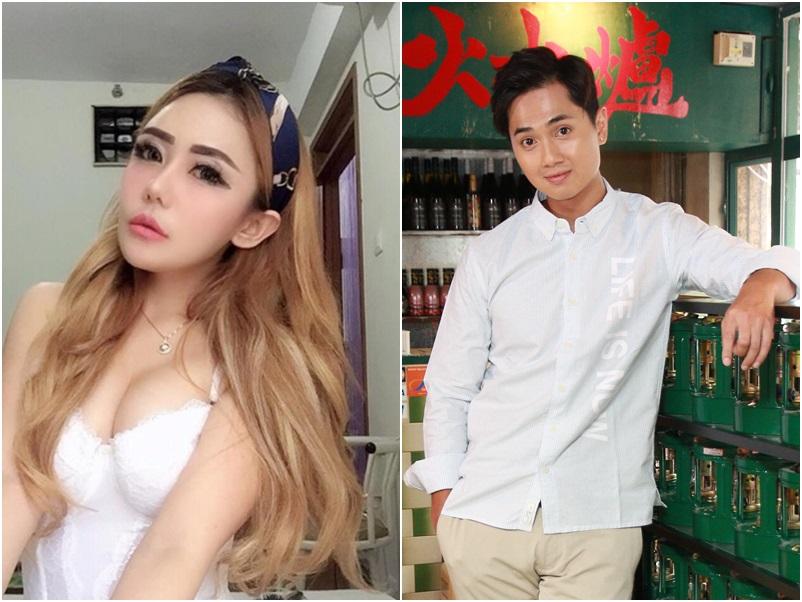 女模BeBi在社交平台否認錫她的人是鄭俊弘。