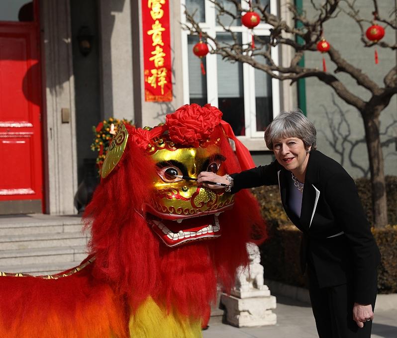 本月1日,英國首相文翠珊在首相府舉行春節慶祝活動。(網圖)