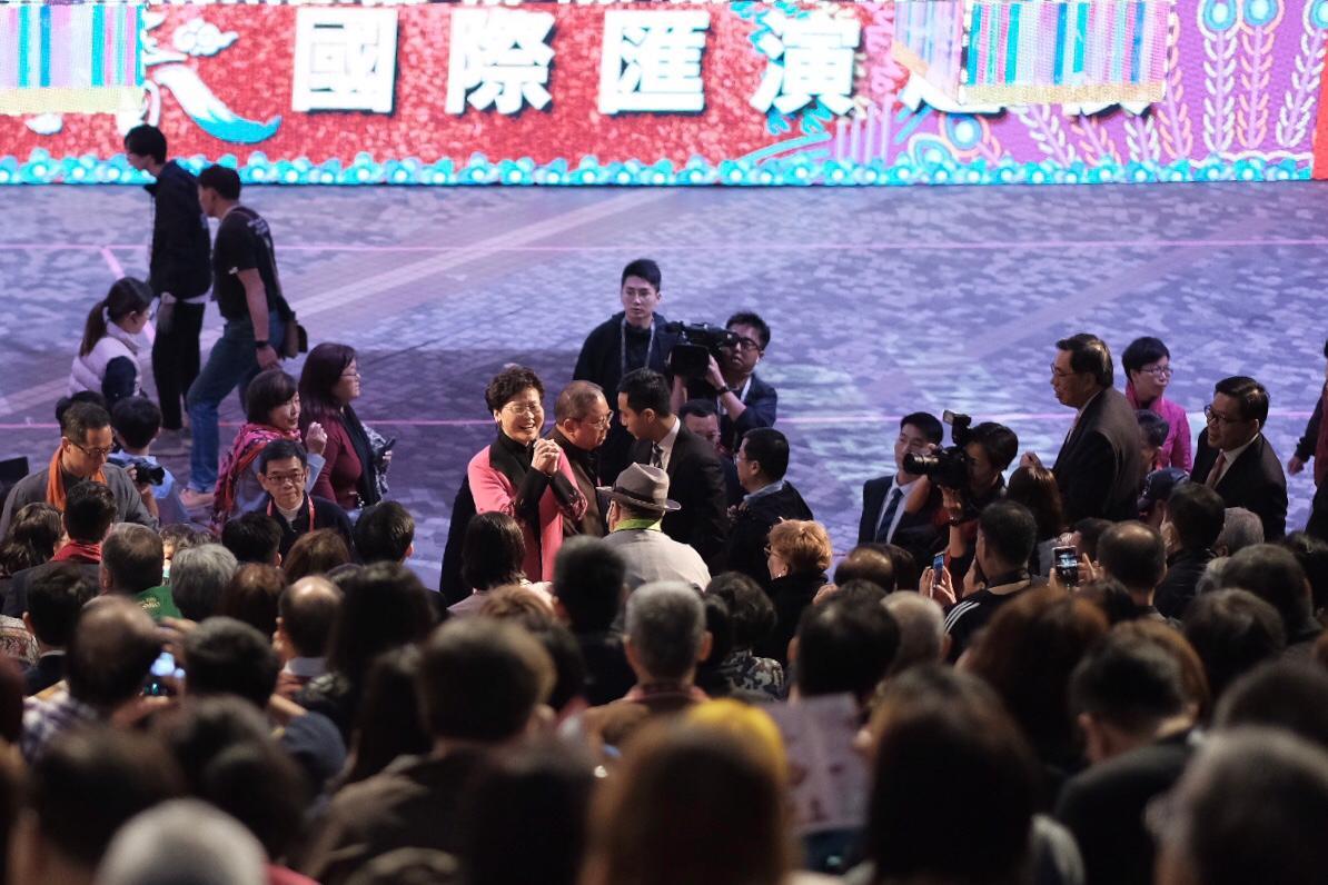 林鄭月娥晚上出席尖沙嘴新春國際匯演之夜