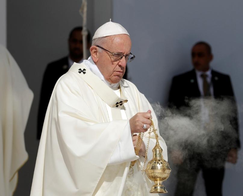 教宗方济各首度认有修女遭神职人员性侵。