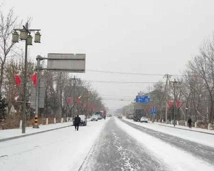 北京多处下雪。网图