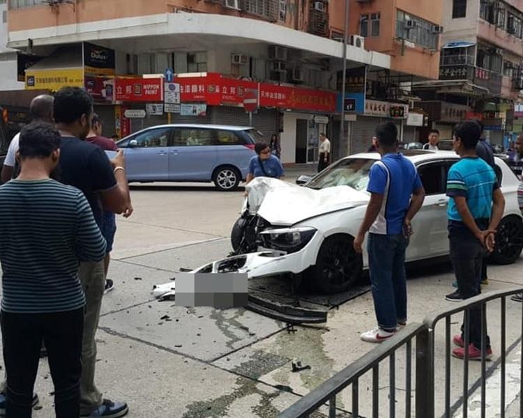 寶馬車頭嚴重損毀。Dal Lau圖片