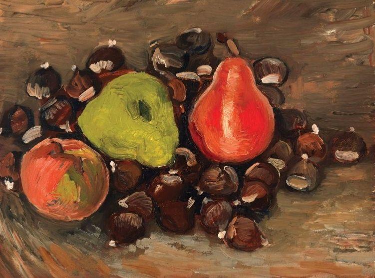 《水果和栗子的静物画》证实出自梵高之手。网图