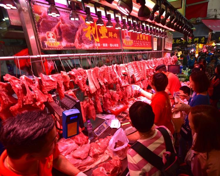 本港明復售鮮豬肉。資料圖片
