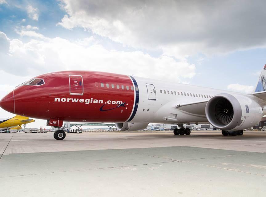 挪威航空一架客机,在起飞后接获炸弹恐吓。网图