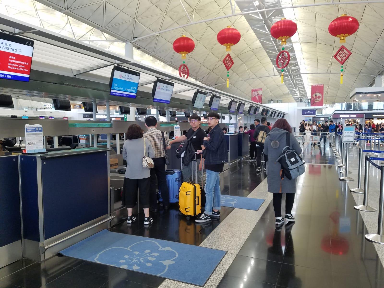 華航今日取消至少28班國際及兩岸航線的航班。林思明攝