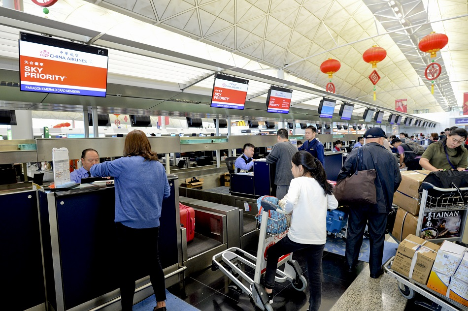 華航洽談香港航空,加開四班往返香港台北加班機。