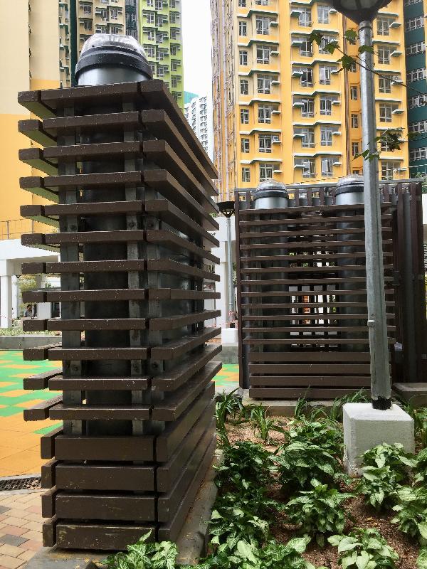 安泰邨設有導管設施,用作收集天然陽光。政府新聞處圖片