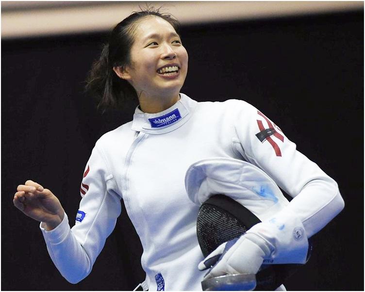 江旻憓以15:12擊倒南韓對手奪得巴塞隆那站冠軍。 FIE facebook圖片