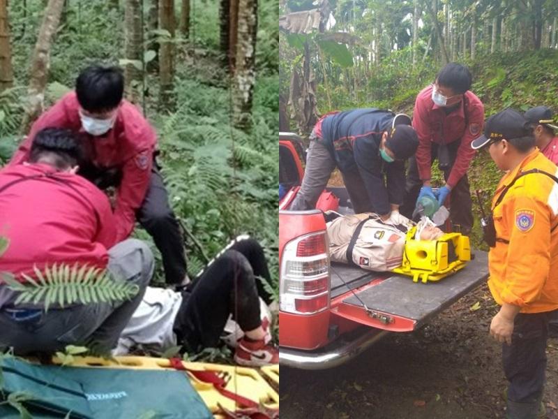 台湾花莲发生滑翔伞坠落意外,造成一名台籍教练身亡,内地乘客受伤。网图