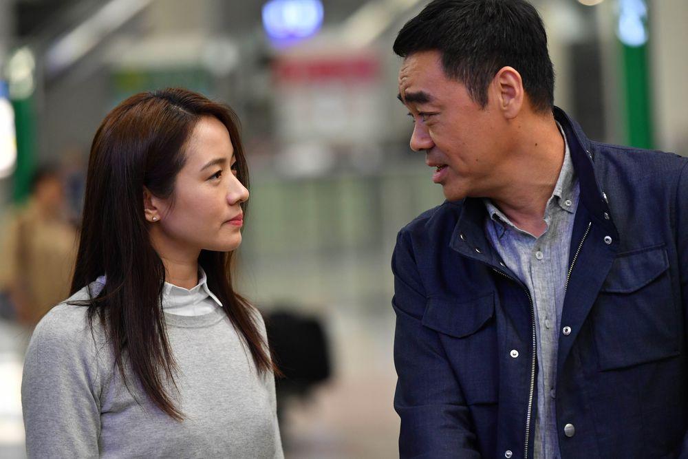 林嘉欣與劉青雲在《廉》片中合演夫妻,合作十分愉快。