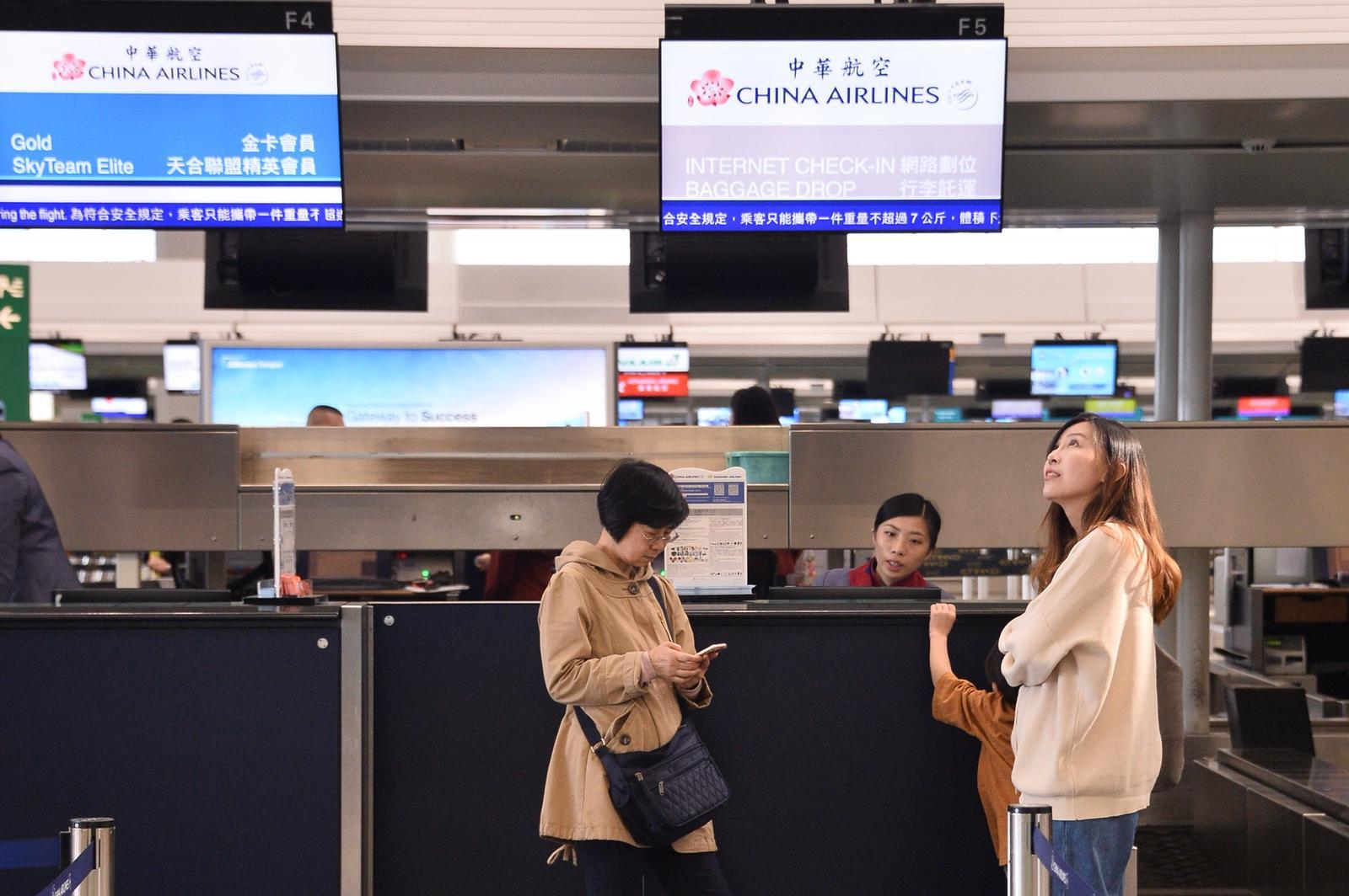 受罷工影響華航明日(11日)往來香港至台北、高雄共12個航班取消或延誤。