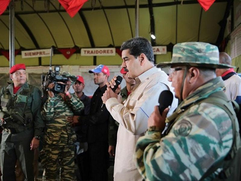 马杜罗宣布启动委内瑞拉史上最大规模军演。(资料图片)
