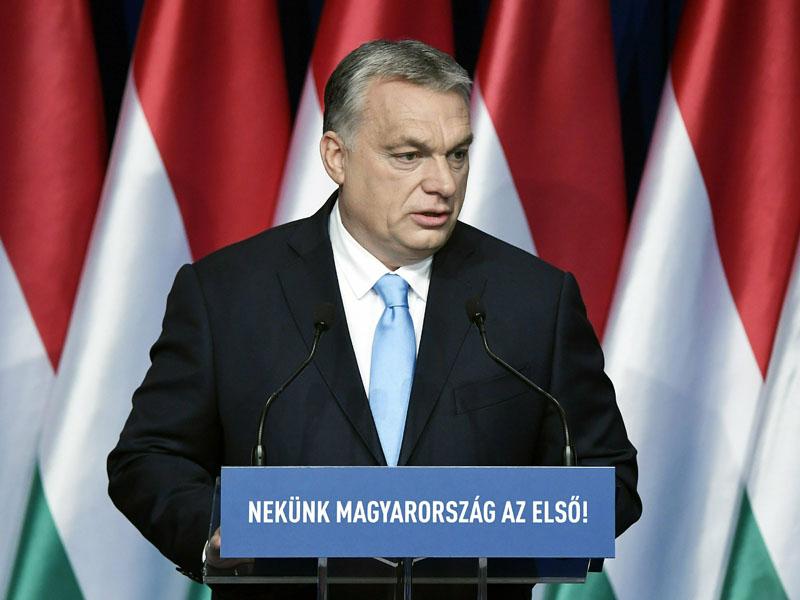 匈牙利總理奧爾賓宣布生下4名或以上子女的女性,可終生免稅。AP