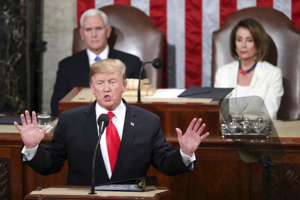 特朗普的民望受停擺拖累。AP圖片