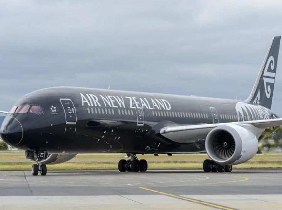 纽西兰航空公司客机。网上图片