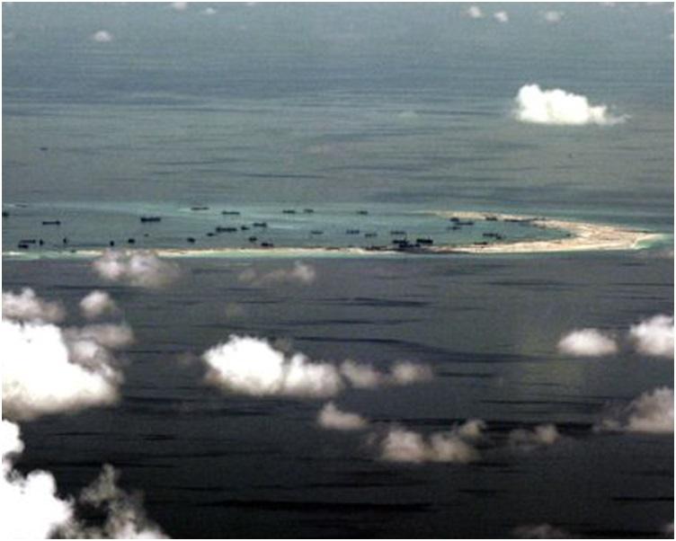 南沙群島美濟礁。AP