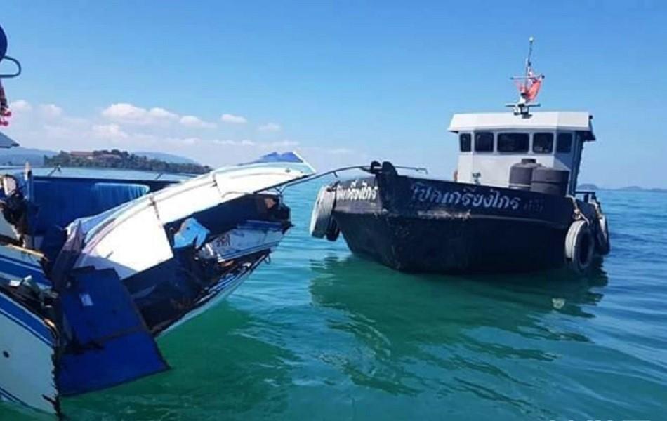 泰國撞船造成11名中國遊客傷。新華社圖片