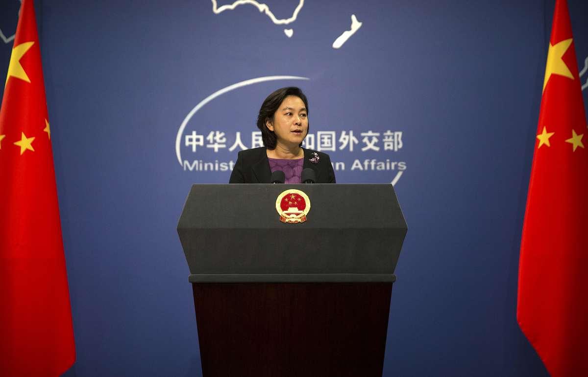 北京外交部發言人華春瑩。AP圖片