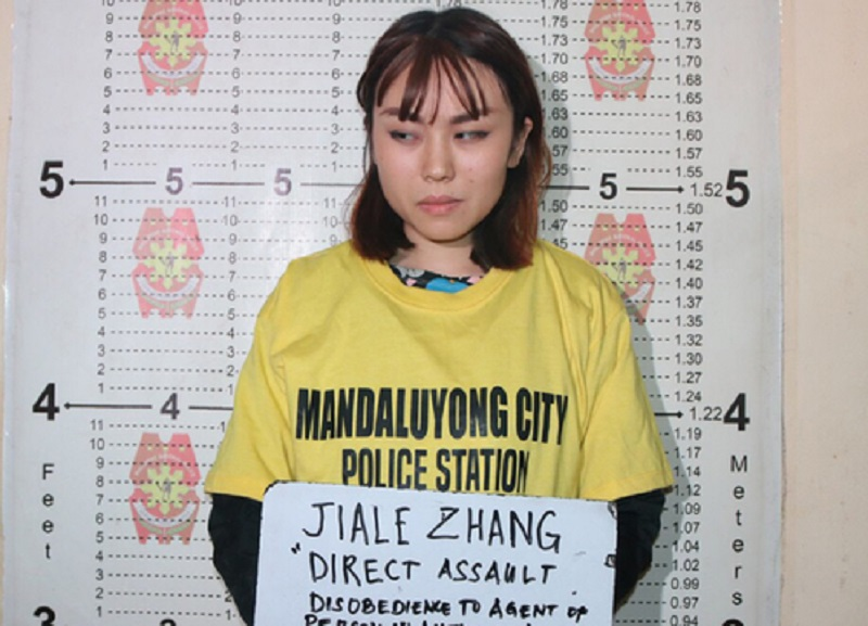 中國女留學生被拘留。網上圖片