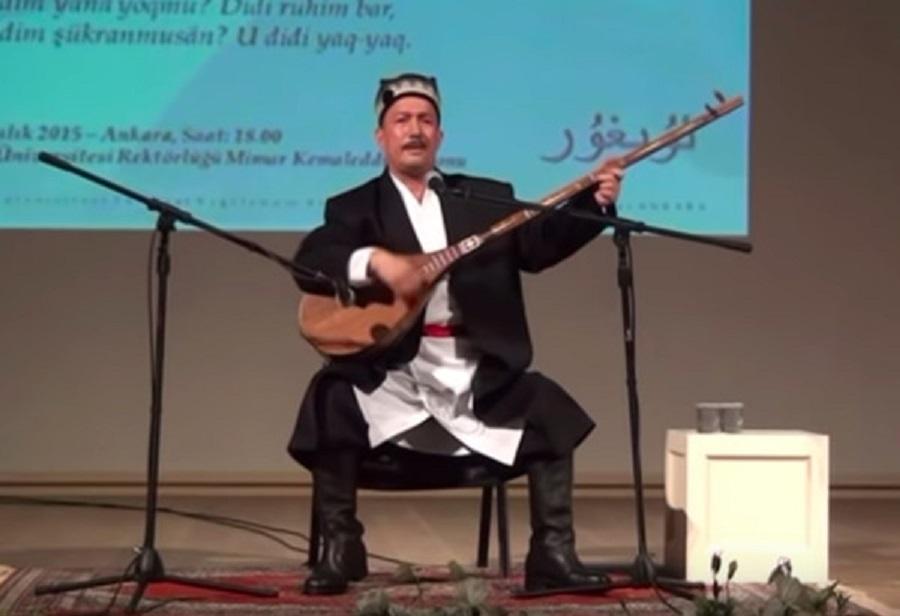 維族音樂家艾衣提。網上圖片