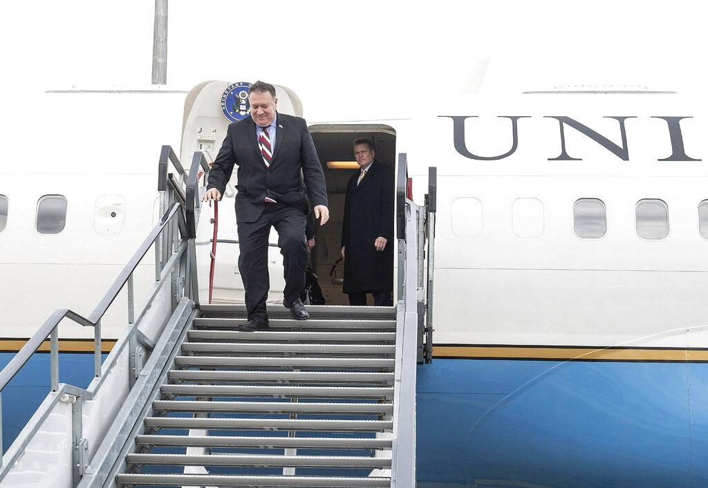 美國國務卿蓬佩奧出訪匈牙利。AP圖片