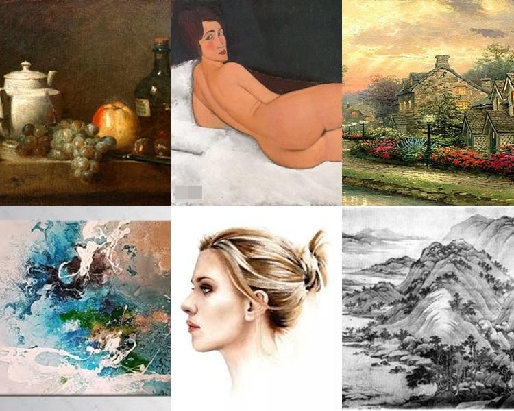 你對哪一種畫最有興趣?網圖