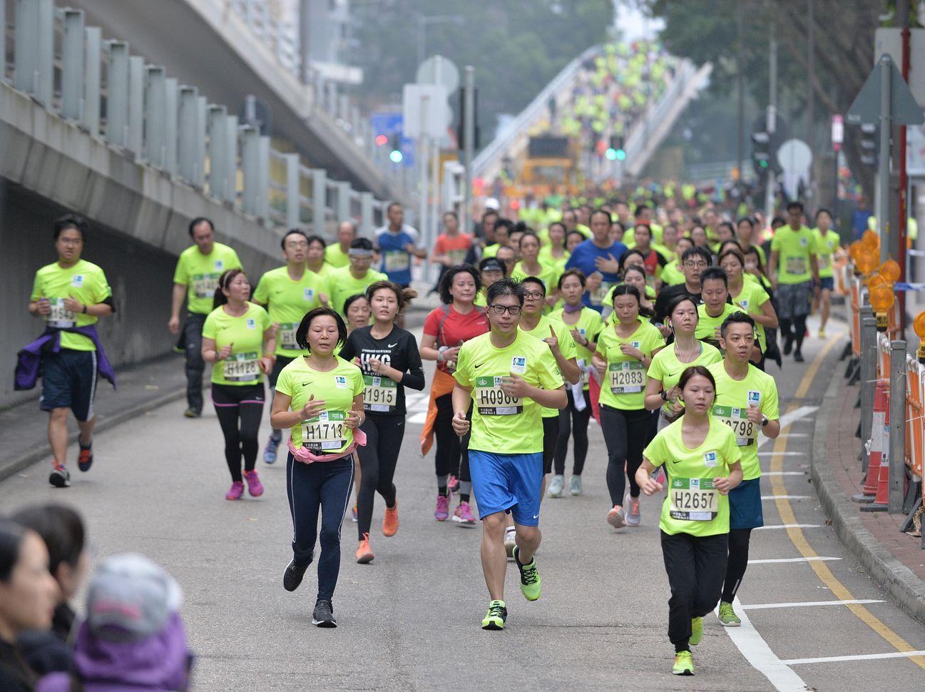 渣打香港馬拉松將於周日舉行。資料圖片