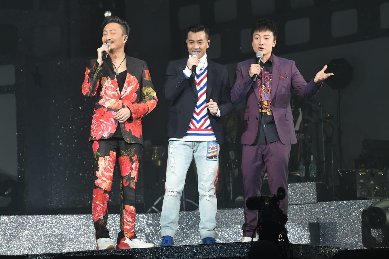 方力申和梁漢文日前擔任鄭中基演唱會嘉賓。