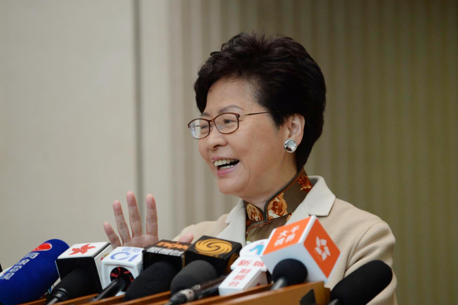 林鄭月娥說,下任港鐵主席將面對極大挑戰。