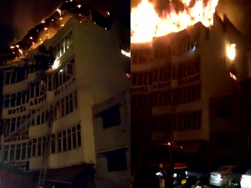印度新德里酒店起火最少17人死4傷。(網圖)