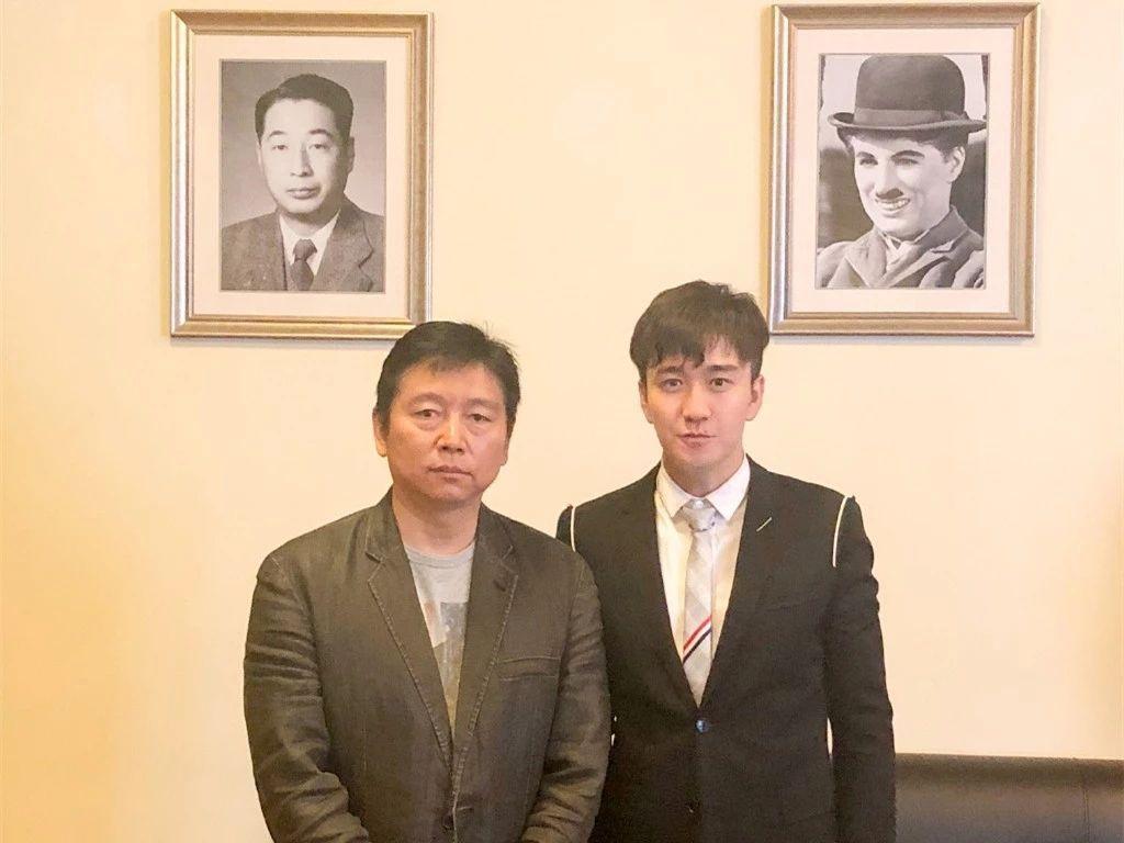 内地演员翟天临、北京电影学院长张辉。微博图片