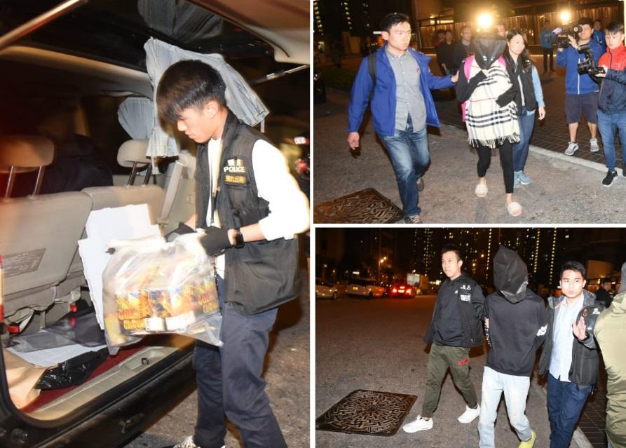 警方檢獲5公斤煙花爆竹;警方拘捕2名男女。