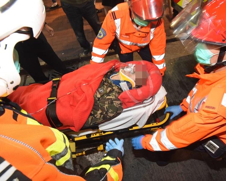 佐敦有男子墮樓,現正送院搶救。