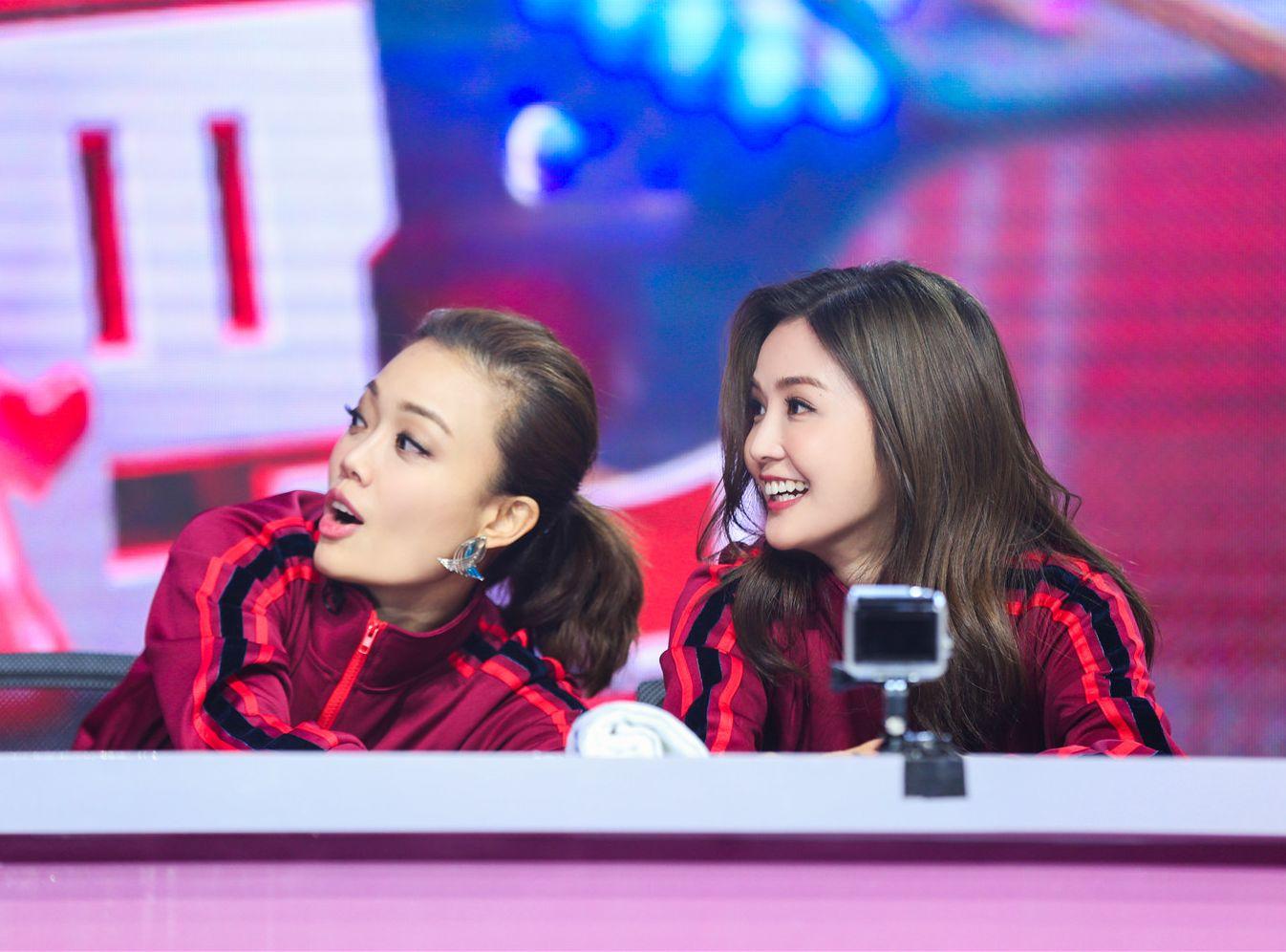 容祖兒及阿Sa早前參加內地綜藝節目《沒想到吧》。