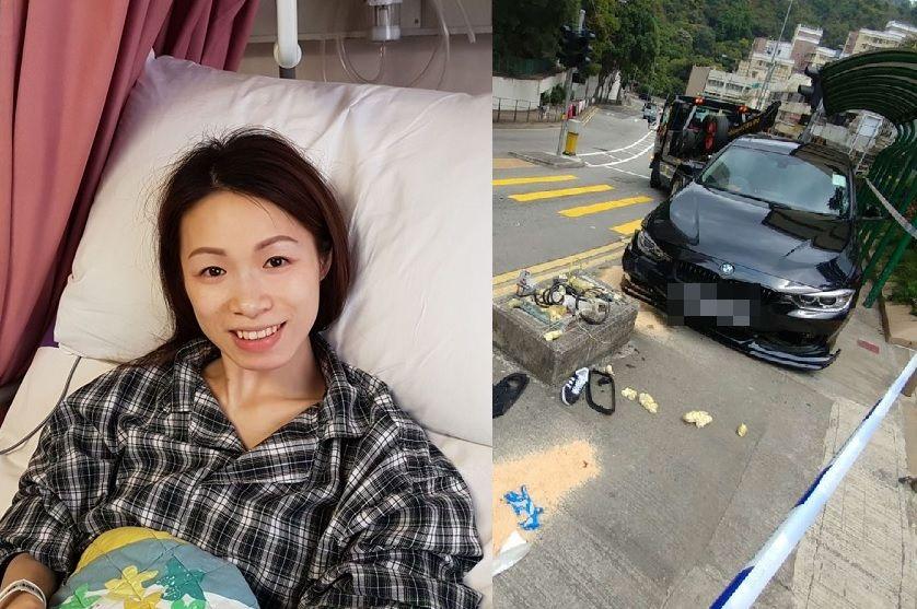 好媽媽杜穎楠車禍中雙腿被撞至血肉模糊。  資料圖片