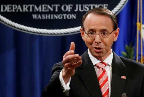 美国司法部副部长罗森斯坦。资料图片