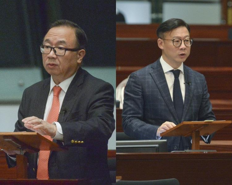 廖長江(左)及張國鈞(右)當選正副主席。資料圖片