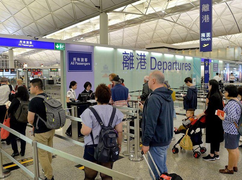 機管局指,香港國際機場將致力與大灣區的機場合作。資料圖片