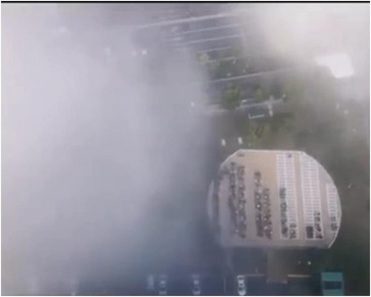 江苏出现一场罕见的超强浓雾。网图