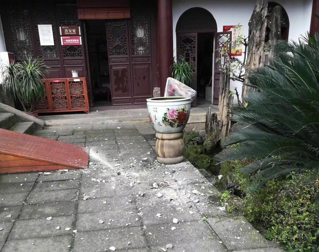 自貢著名博物館鹽業歷史博物館在地震中受損。網上圖片