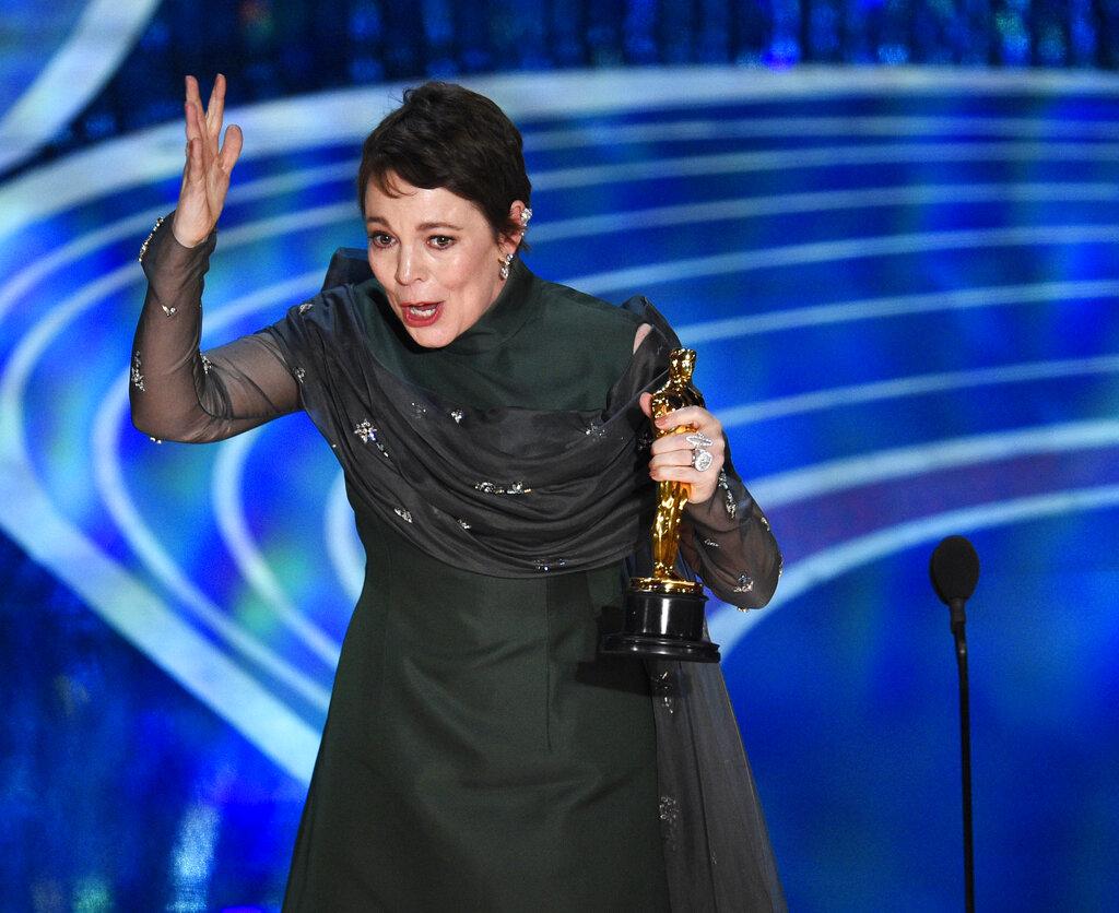 奧斯卡影后由《爭寵》女主角奧莉花高雯(Olivia Colman)奪得。AP圖片