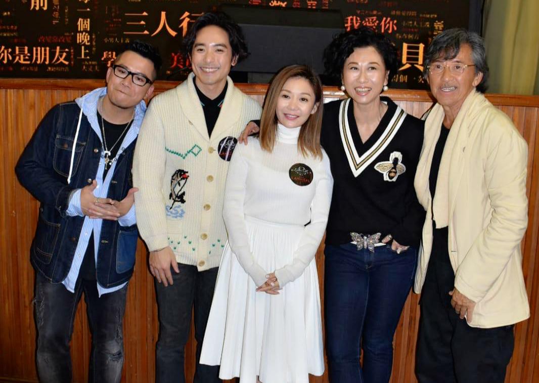 葉蒨文(右二)表明唔做演唱會嘉賓。