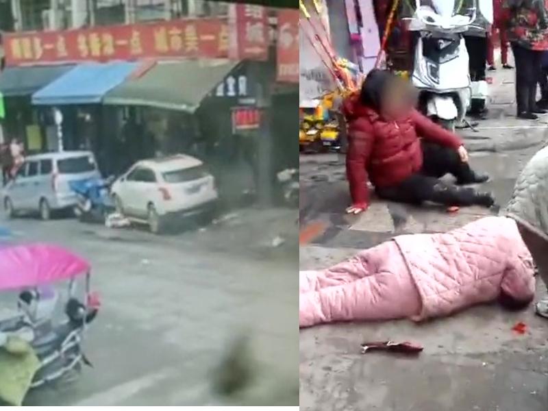 越野車失控剷上行人路,撞傷3人其中一名孕婦被撞斃。(網圖)