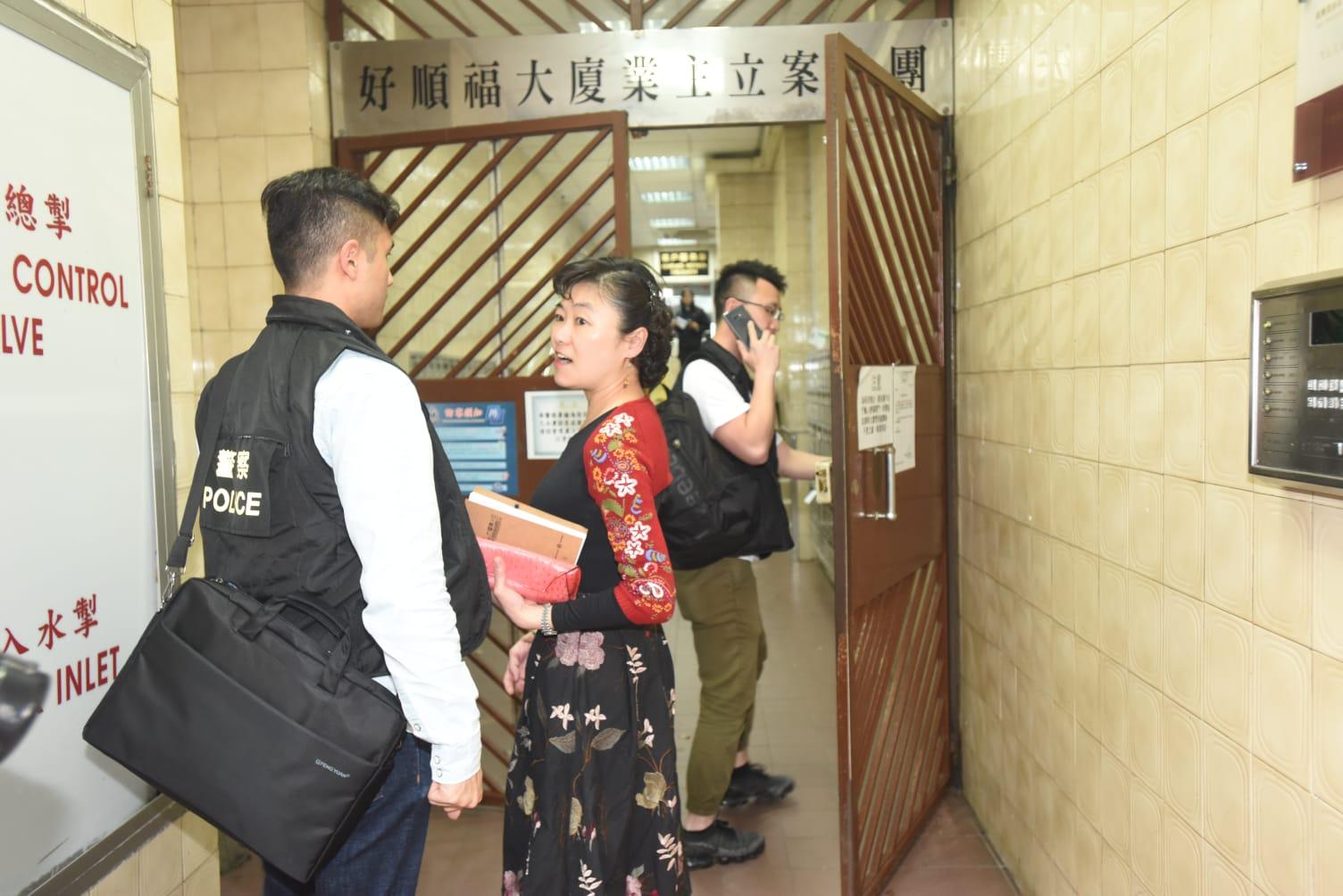 元朗警區總督察葉文儀到場調查。