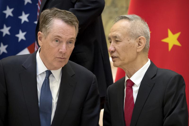 莱特希泽称仍需与中国进行大量工作去达成贸易协议,不是多买美国货就能解决。AP