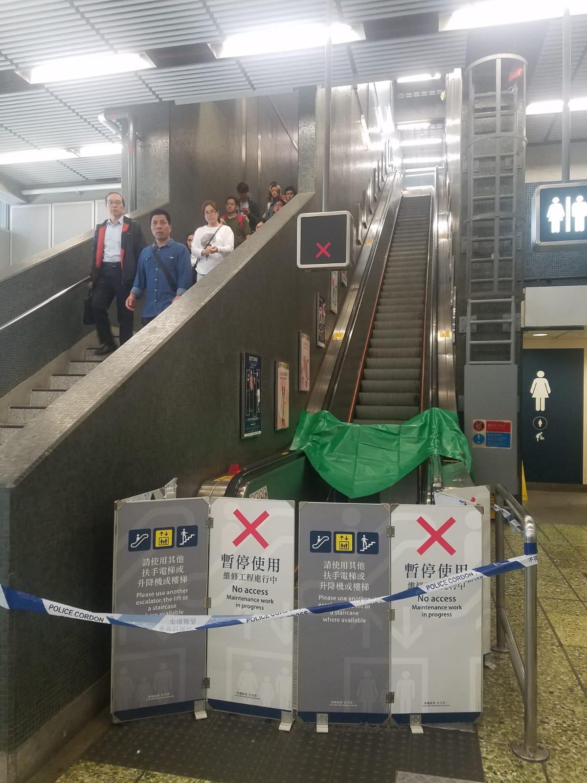 涉事電梯已被封閉。 林思明攝