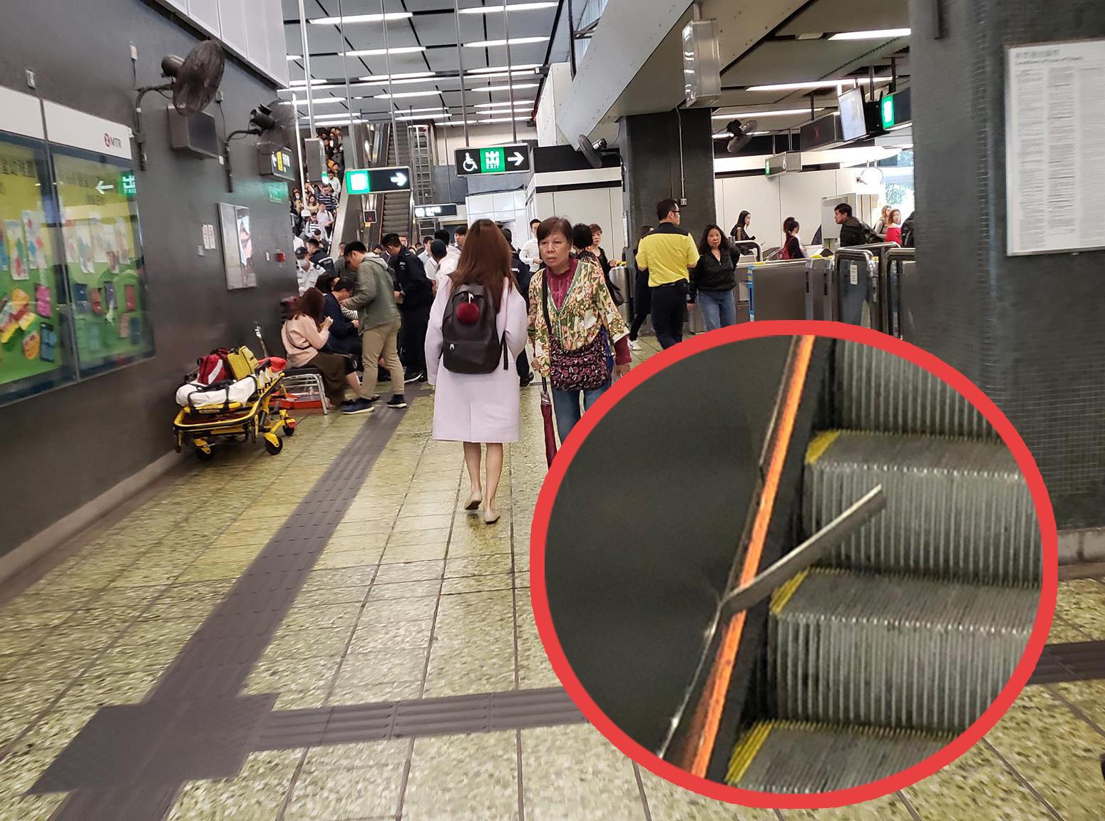 香港突發事故報料區FB/網民Kenneth Sin圖;小圖乘客陳先生提供