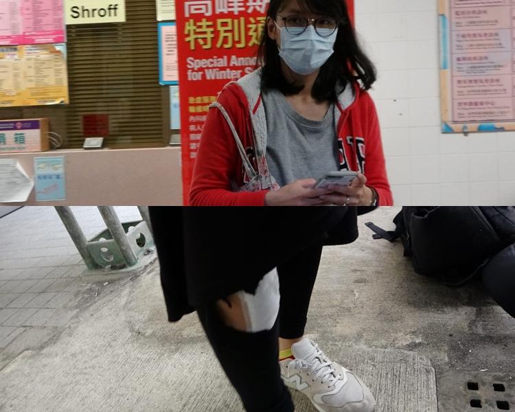 其中一名女傷者(馬小姐)送往聯合醫院,經治療後出院。 梁國峰攝